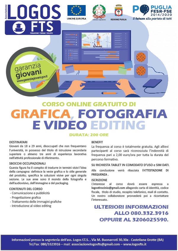 Corso di grafica, fotografia e video editing